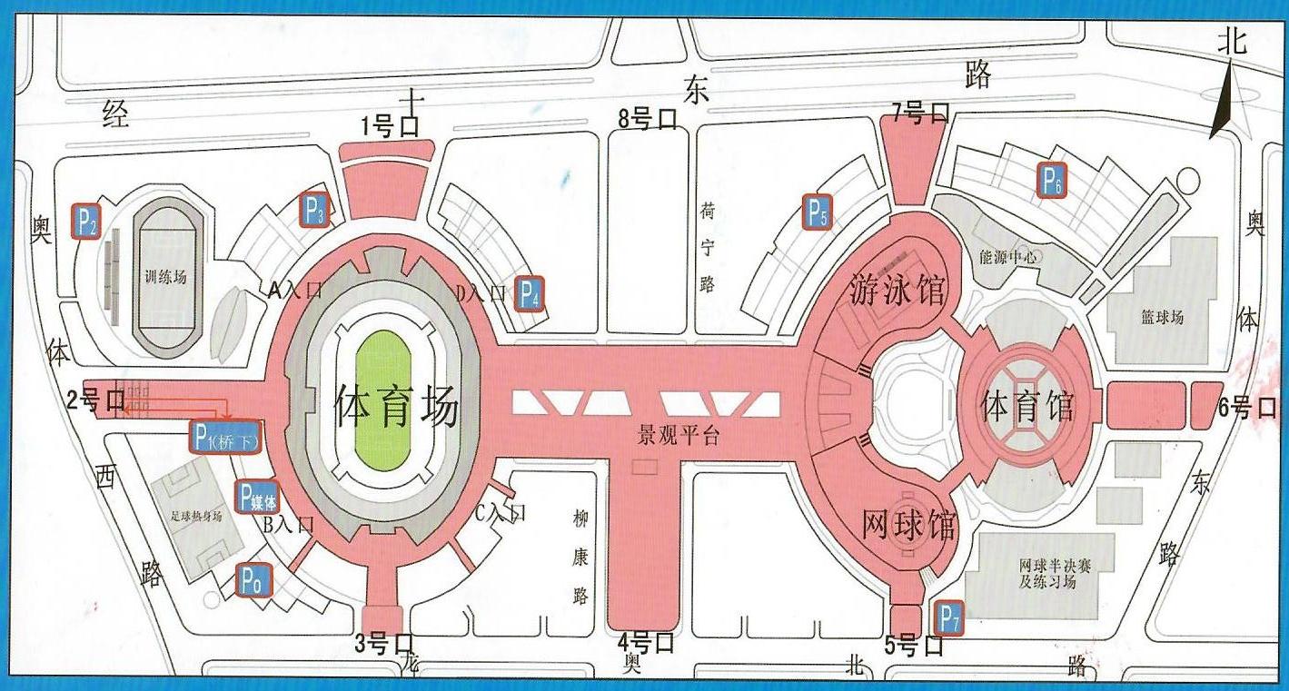 济南奥体中心停车场示意图