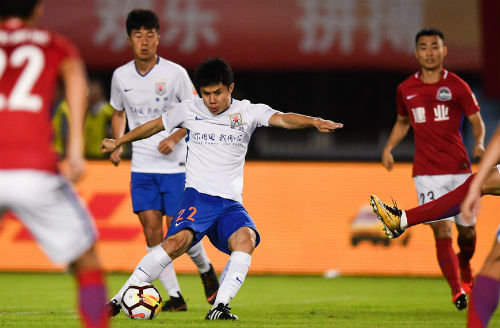 中超联赛第23轮鲁能客场4:1胜建业