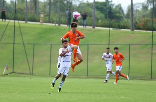 国际TCL杯第二阶段首赛鲁能U16战胜西部足球