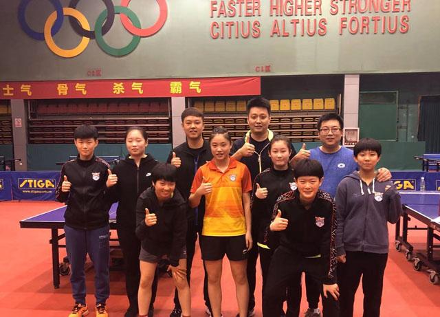 鲁能乒乓小将徐奕成功晋级国家二队